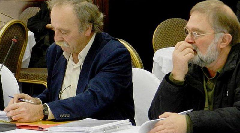 Οι περιφερειακοί σύμβουλοι της Λα.Συ., Θ. Γουλής και Γ. Κορφιάτης.